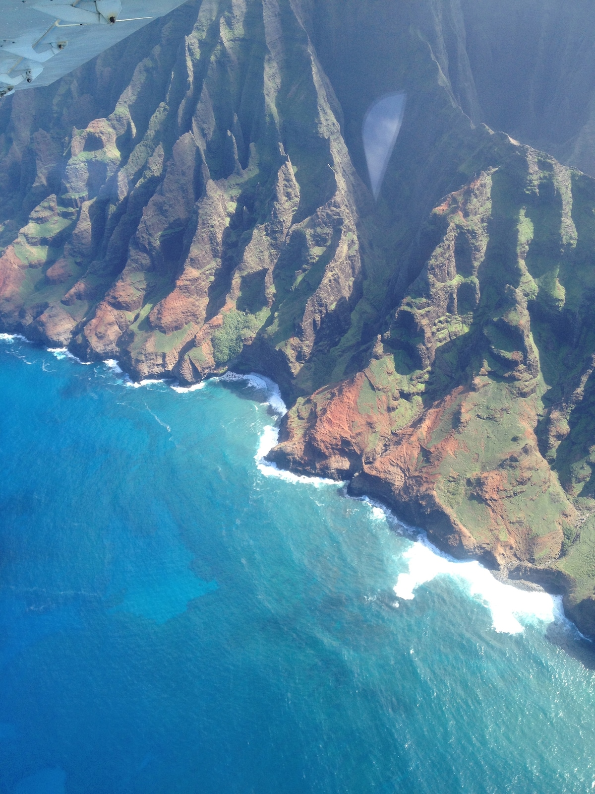 Theses magnificent Na Pali Cliffs can only be viewed by air or sea.