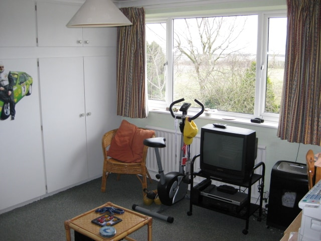 The Study upstairs  from the settee to the window