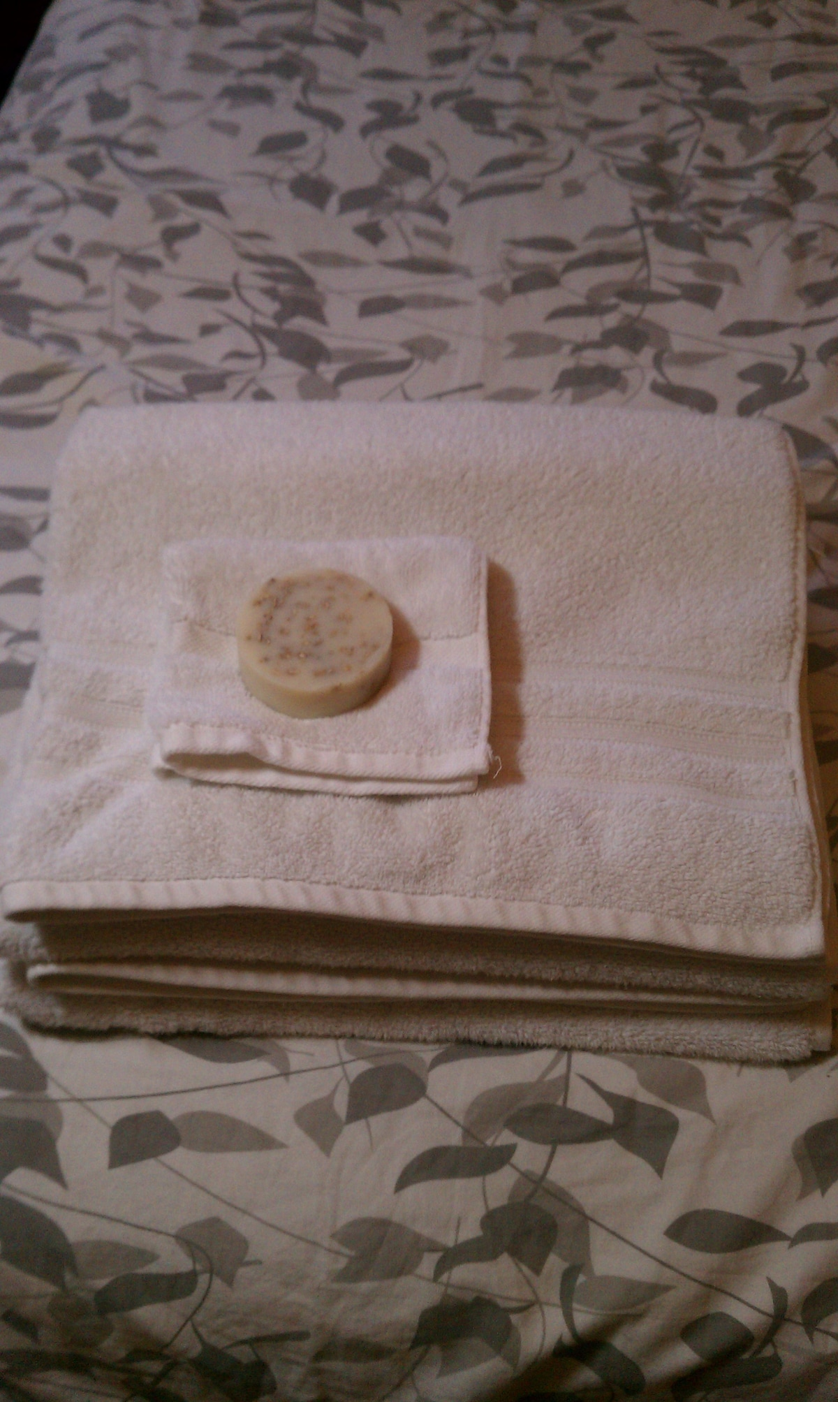 Fresh towels and soap