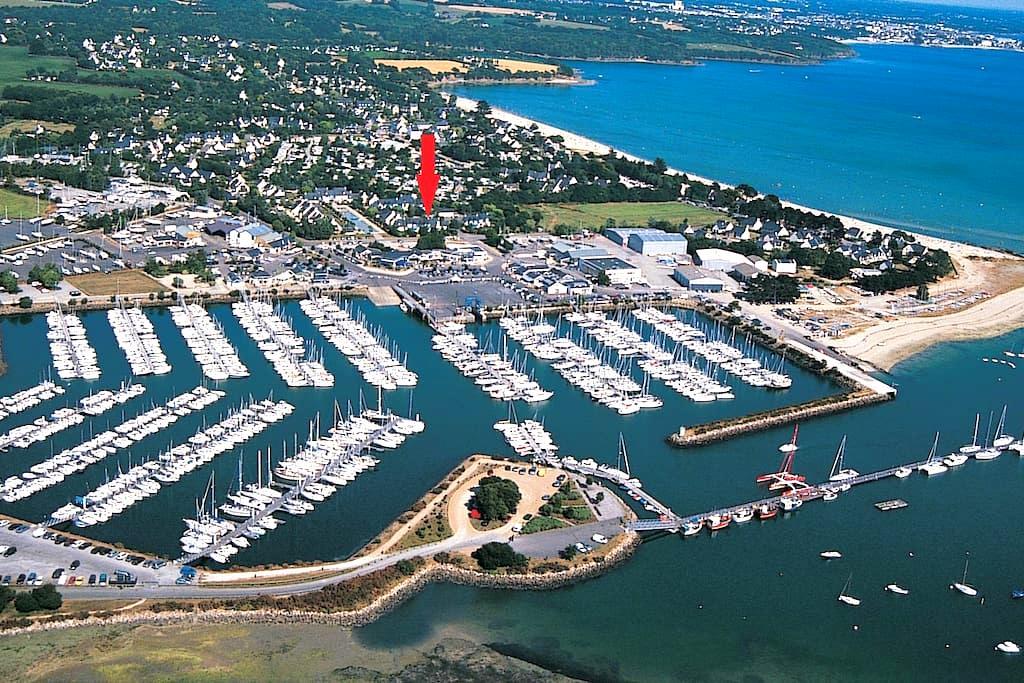 La Foret Fouesnant (29940) - proche port & plage - La Forêt-Fouesnant - Appartamento