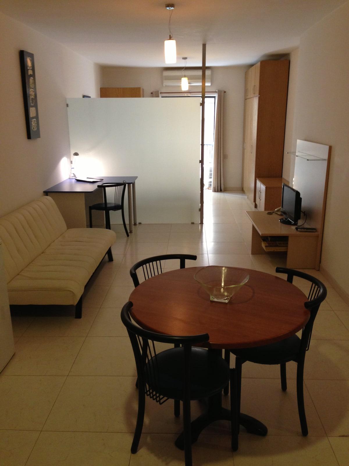 Living area + Desk