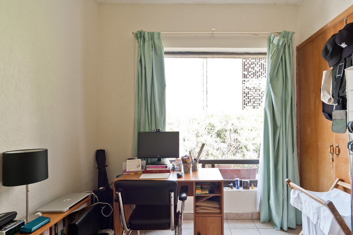 Another view of the desk and window.