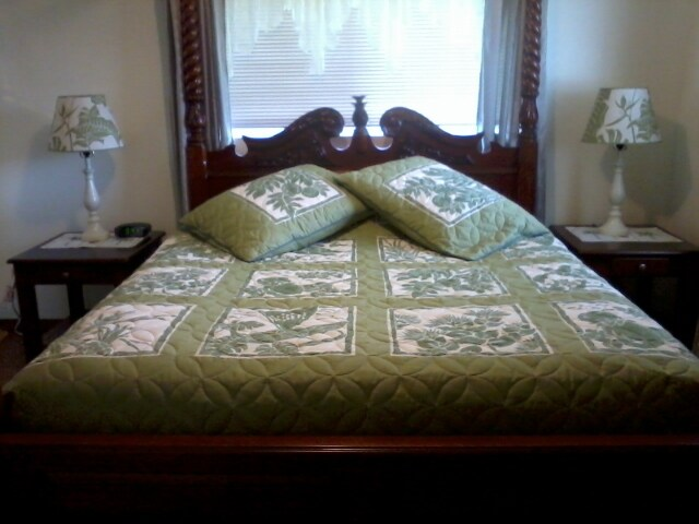 Beautifully crafted Queen Canopy bed in the Master Suite!