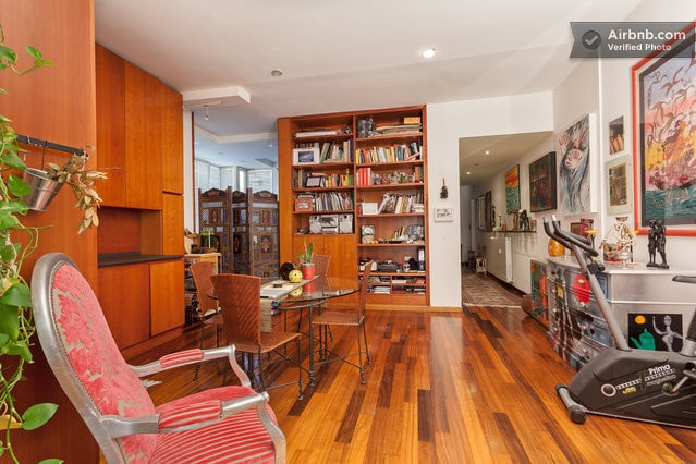 sofa for rent in the artist's aptm
