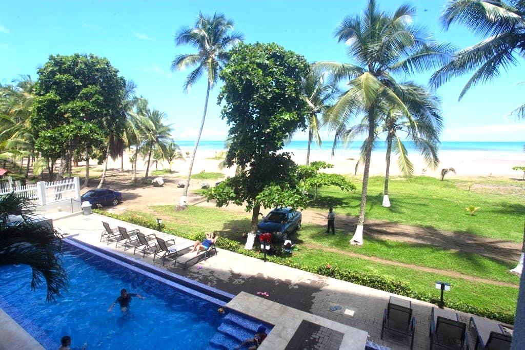 """OCEAN FRONT """"THE PALMS"""" 2 BED, 203 - Jaco - Condominium"""
