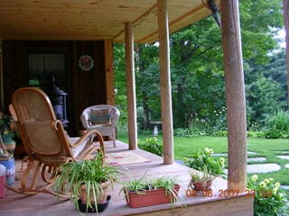 Front porch - main house