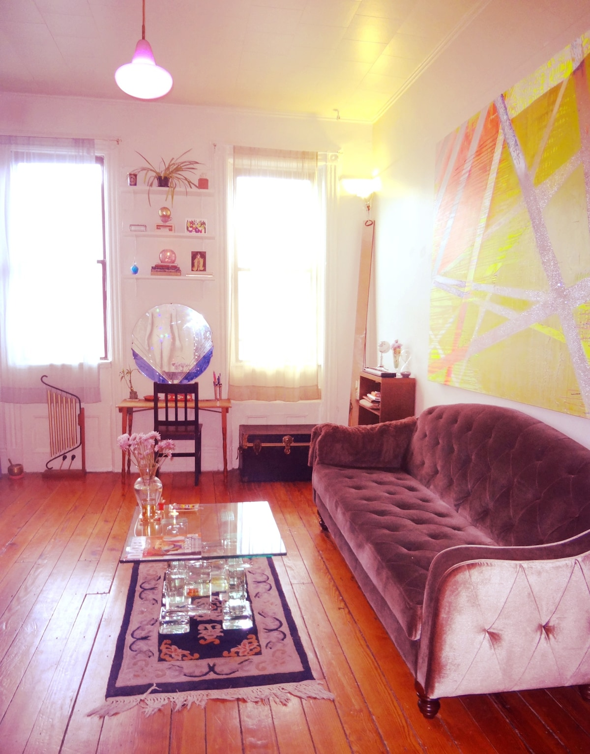 The Living Room (this room is only available as a common room if you are renting the entire apt)