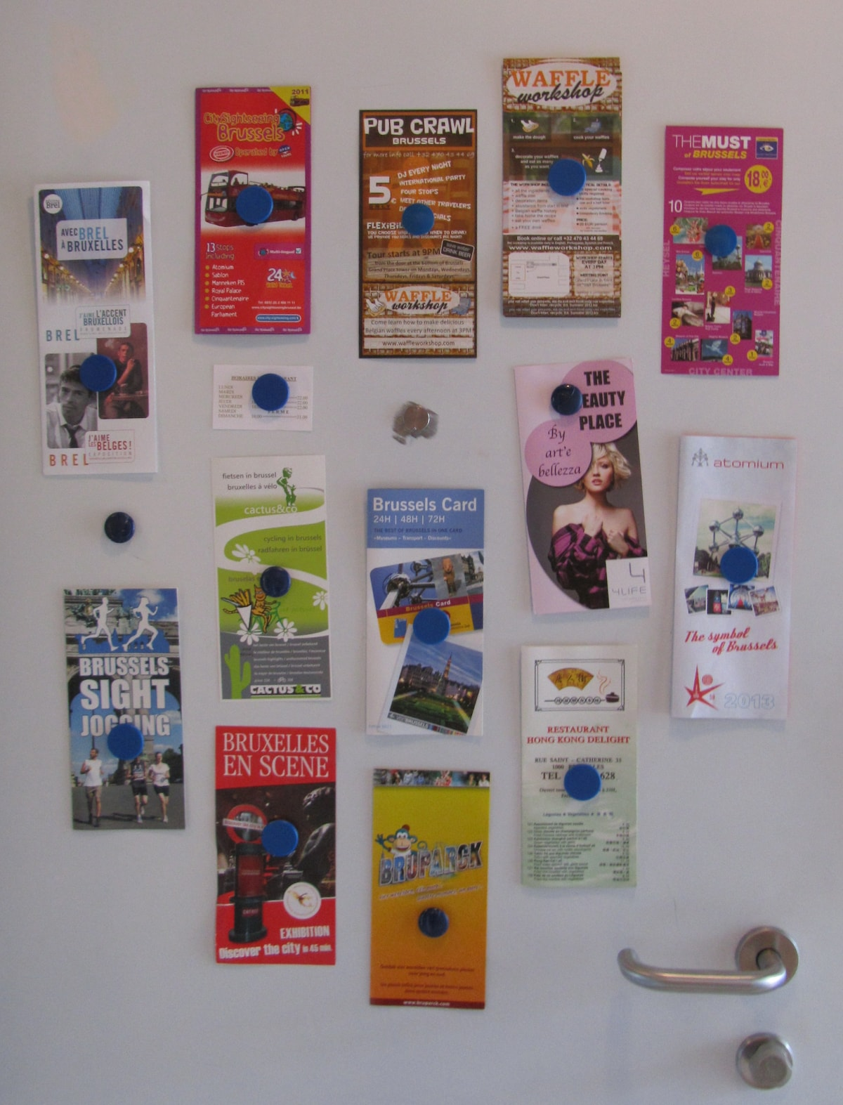 Lots of leaflets and shopping caddy cart (not captured here) at your disposal