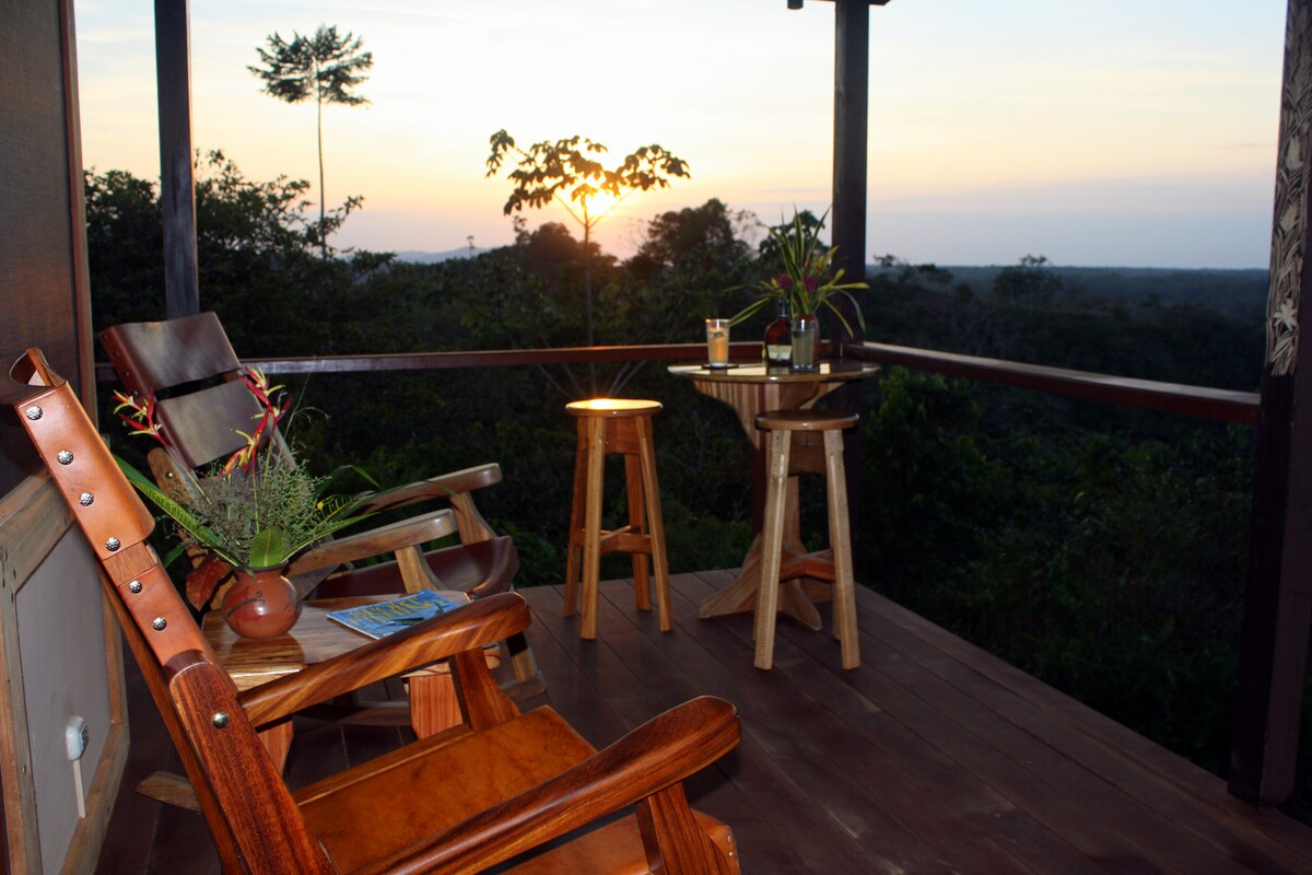 There is no better place to watch the sunset than the wrap around veranda