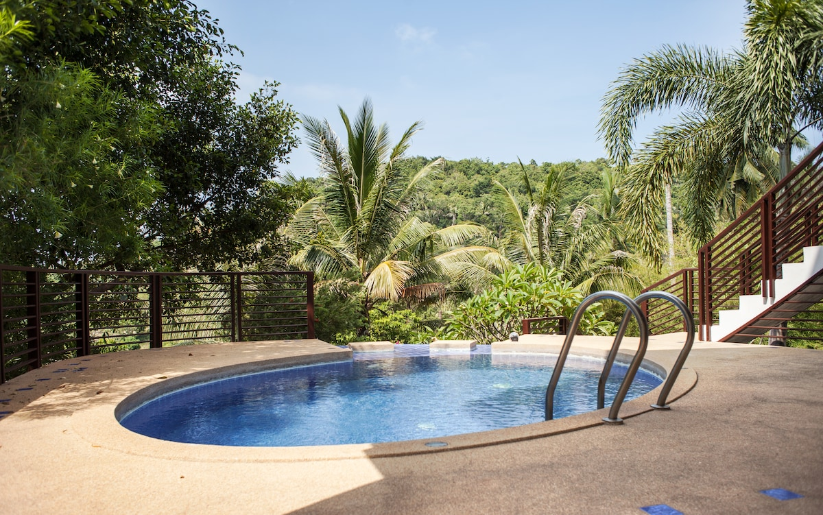 Baan Faan  - private pool, lovely views, quiet residential area - only 10 mins walk to the beach