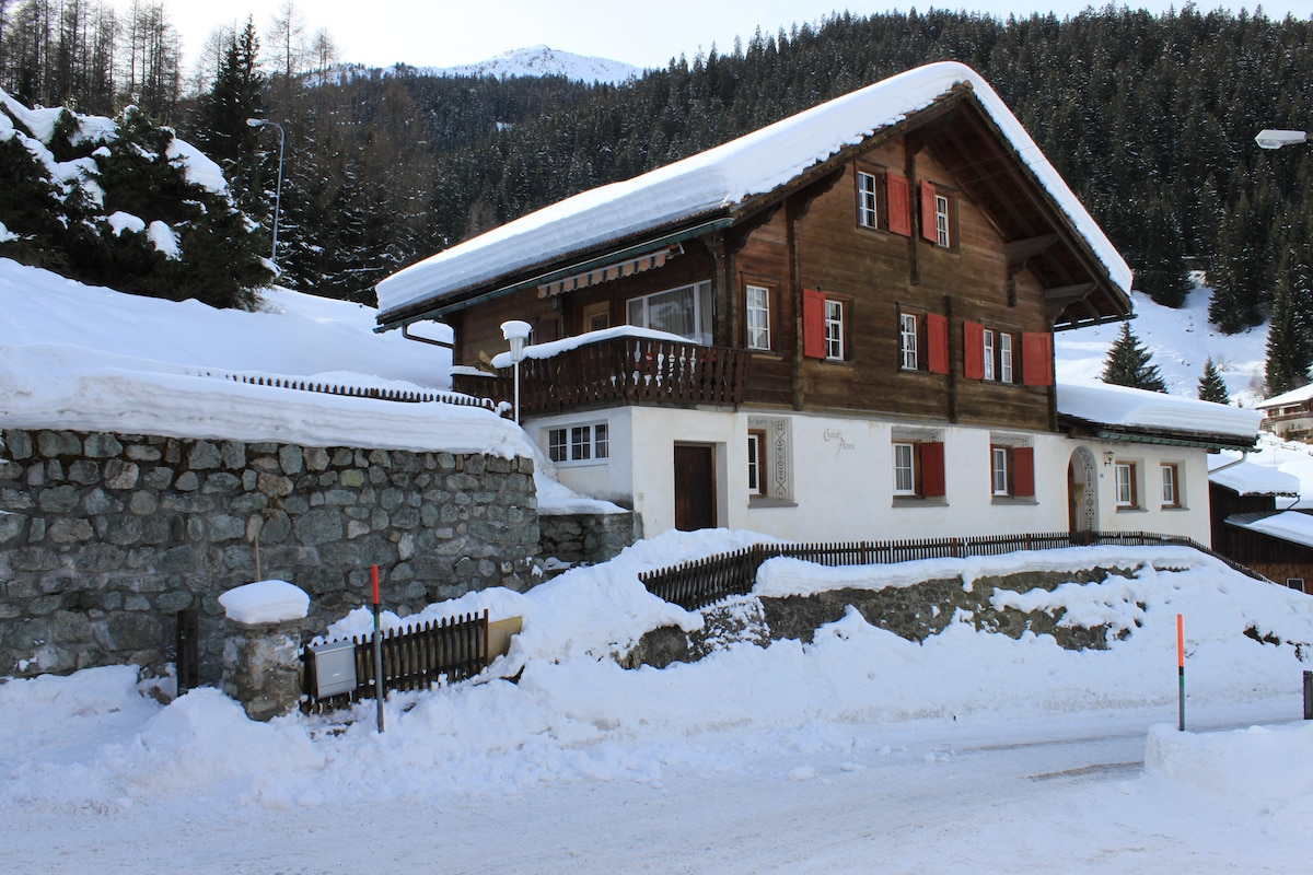 Swiss Chalet in center of Klosters
