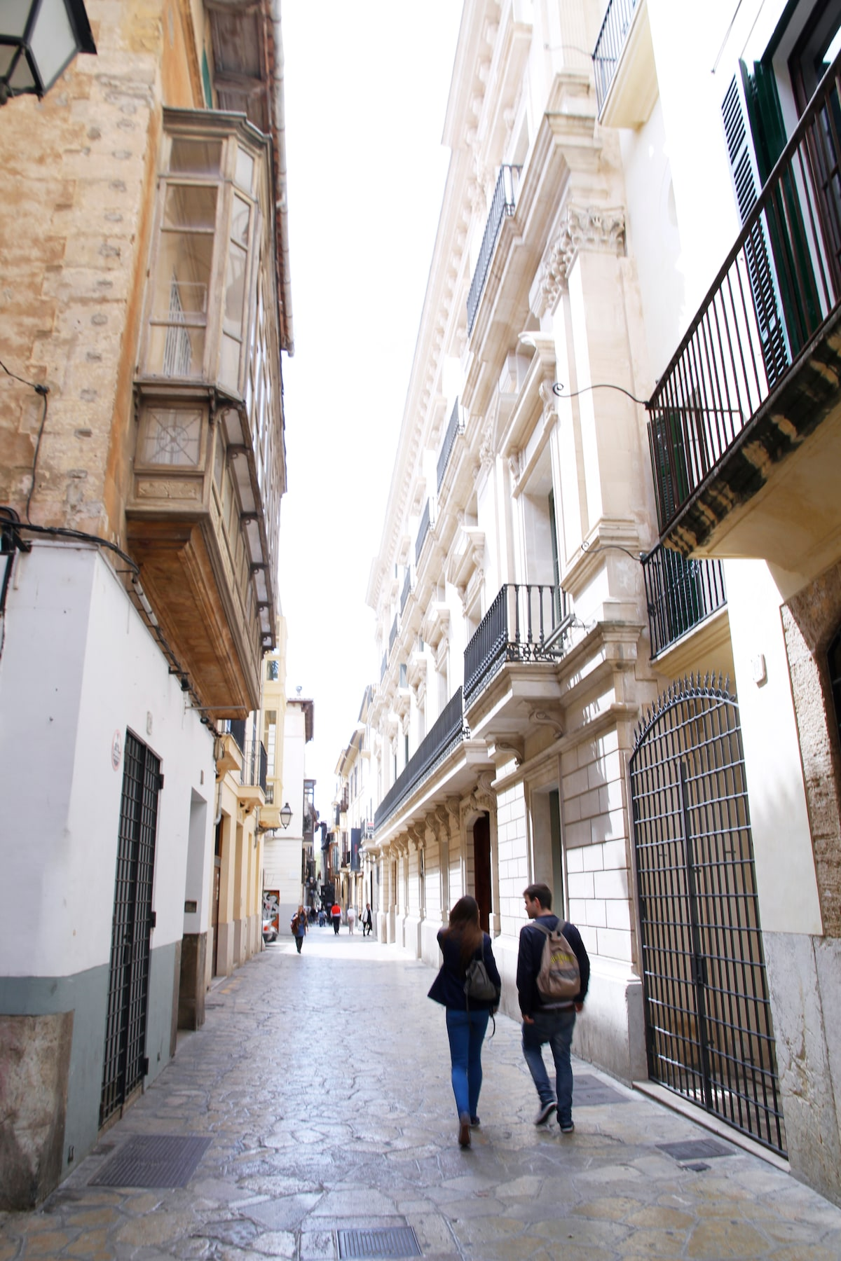 Carrer Sant Jaume. The main street right next to the apartment.
