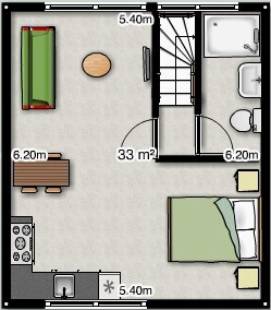 Accommodation Studio B&B Het Weerhuis: South of Rotterdam : Lay-out of the appartment