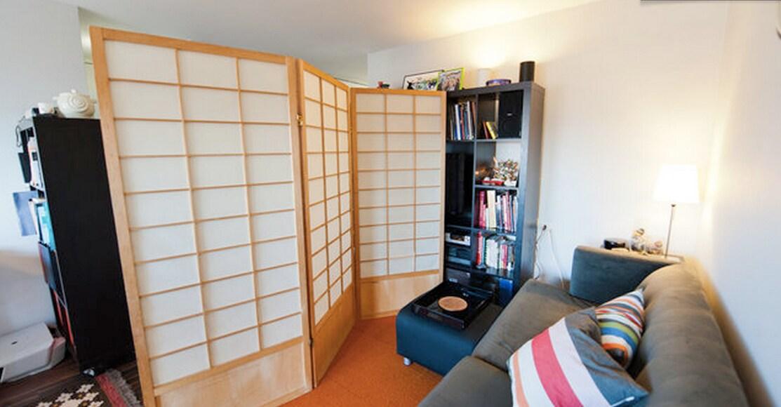 Huge room divider, real Japanese Shoji Screen to use while you sleep!