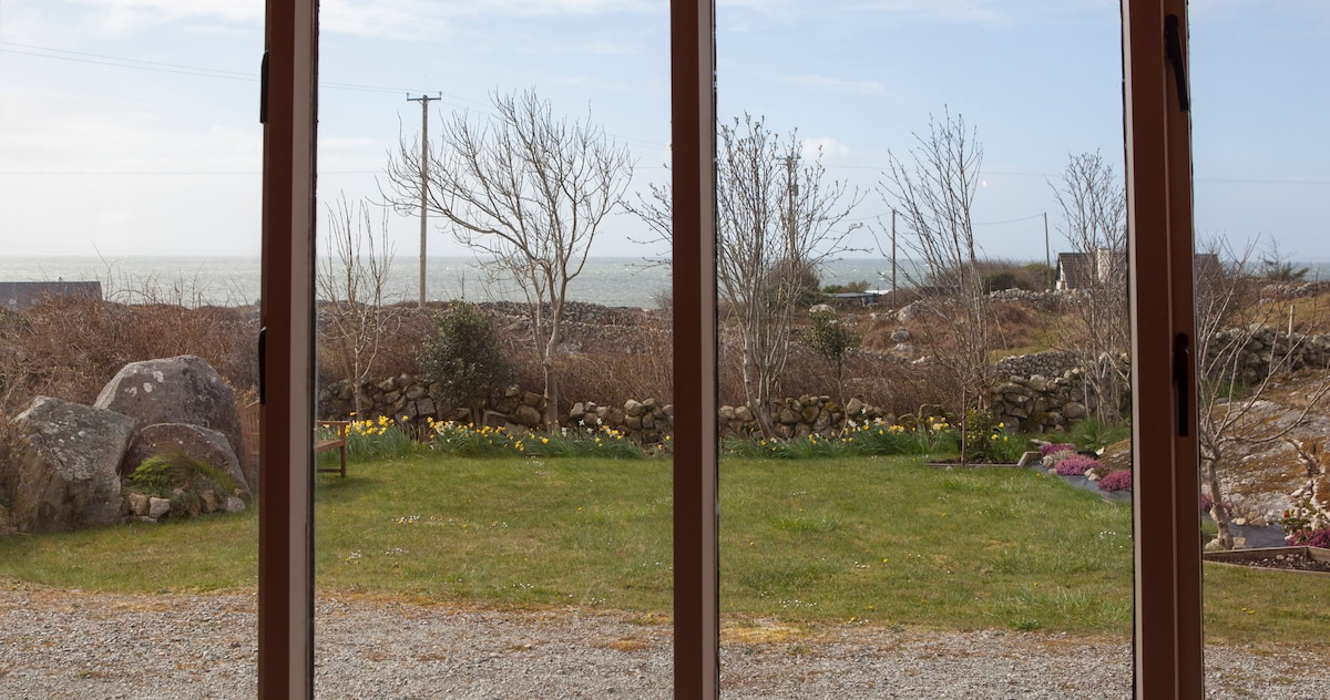 Sun-room with view of Galway Bay