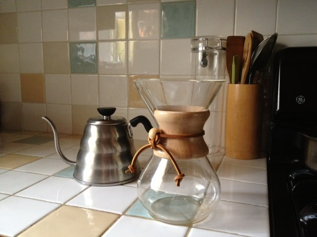 Local Craft Coffee provided - Chemex and hot water maker ready for coffee anytime!