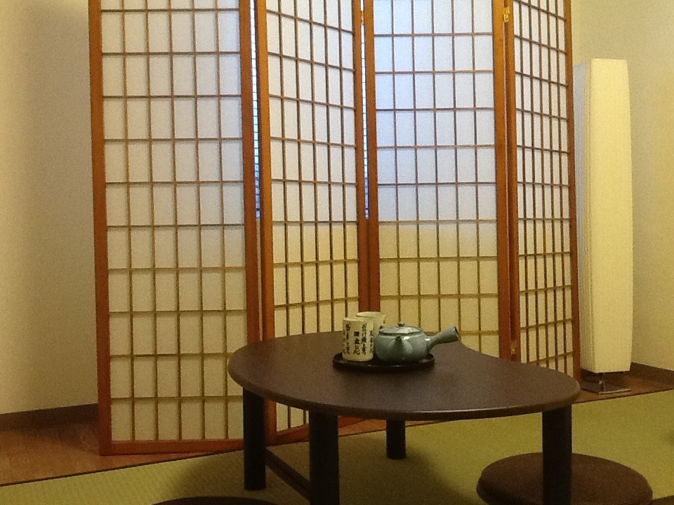 Pull the Japanese partition to block the window at night...