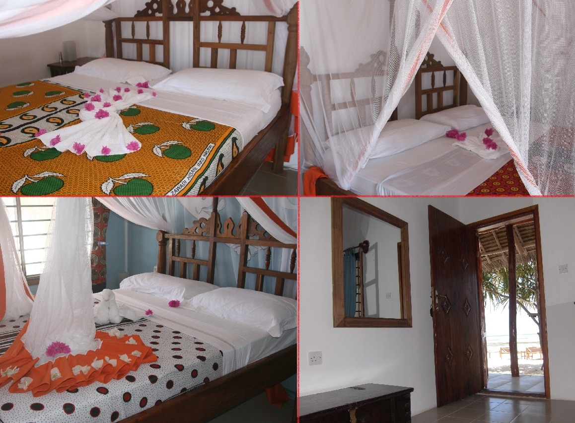 Our rooms with king size bed and right on the beach!!!