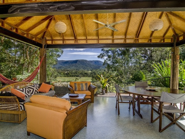 Beautiful deck with view to Koonyum Range, perfect for relaxing or entertaining