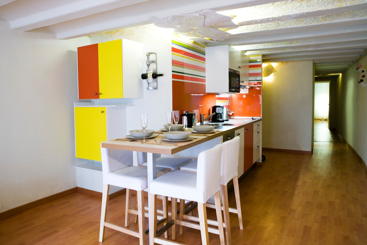 kitchen and dinnig area