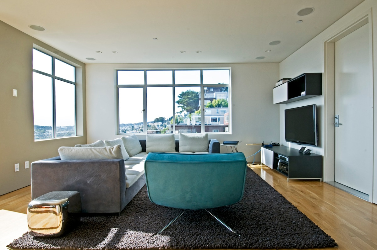 270 degree view in Noe Valley Flat