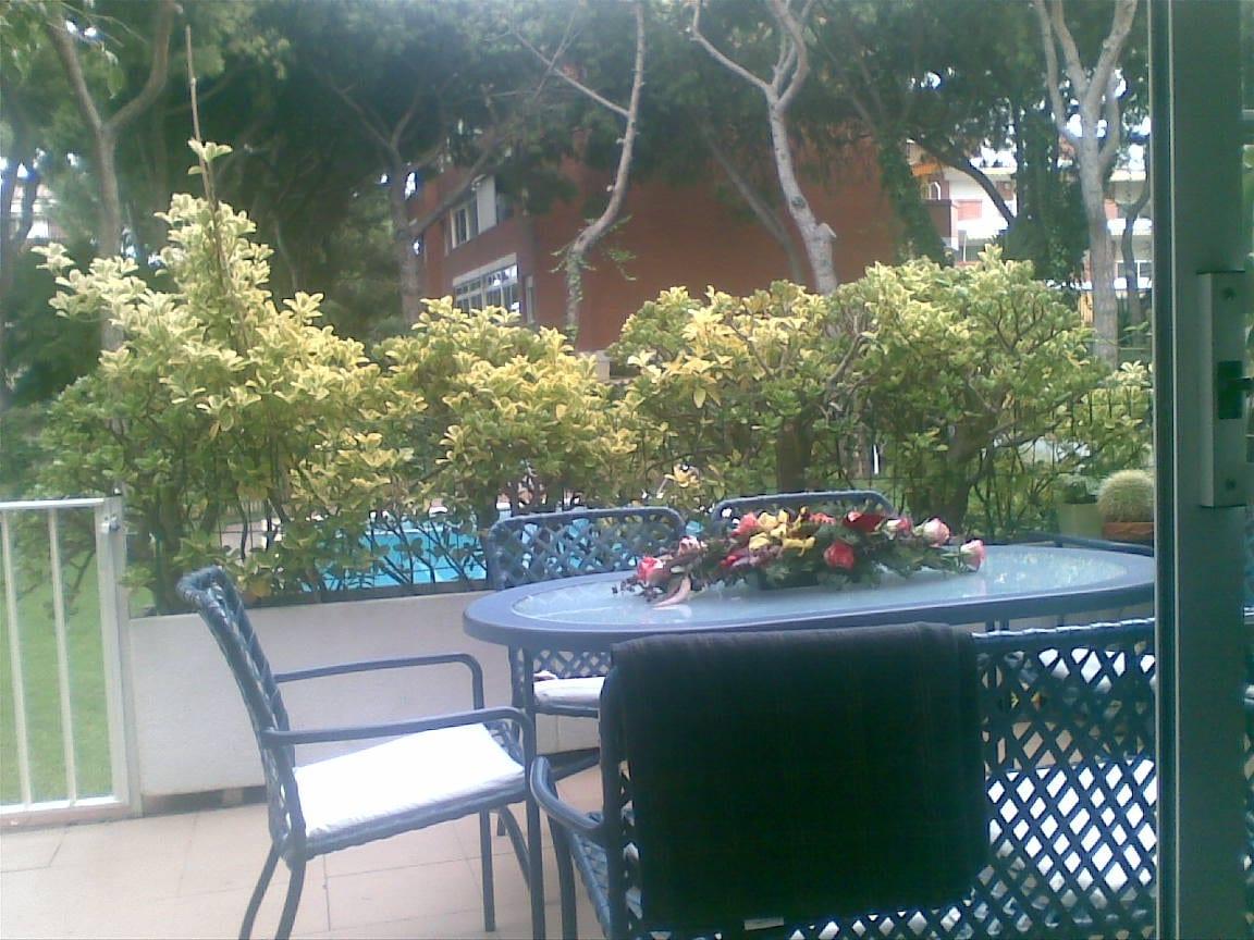 Nuestra terraza agradable...