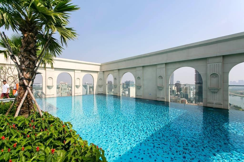 1 BR apt ❤ river view, FREE rooftop pool, central - Ho Chi Minh - Pis