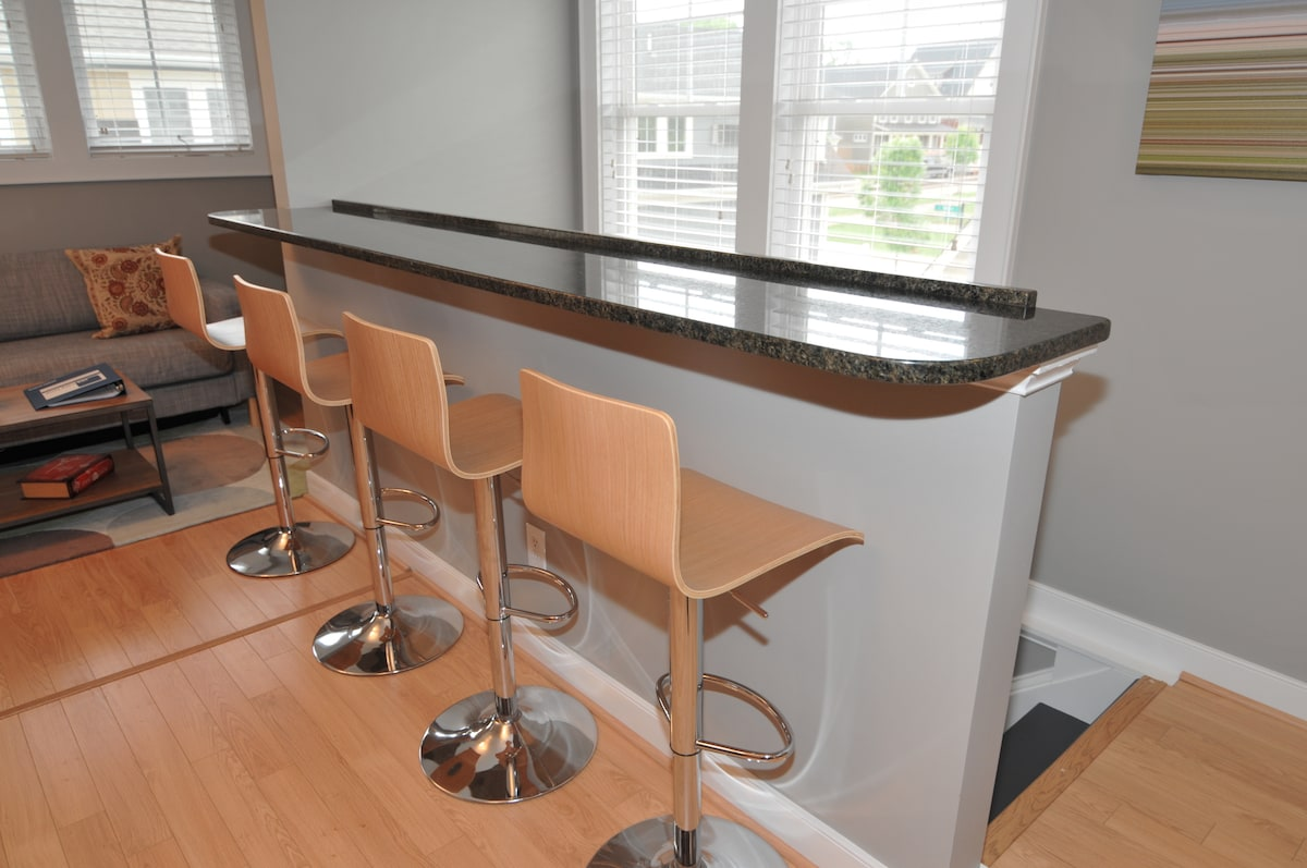 Workspace or Dining Room - You Decide. Seating for 4 and a conveniently located power outlet.