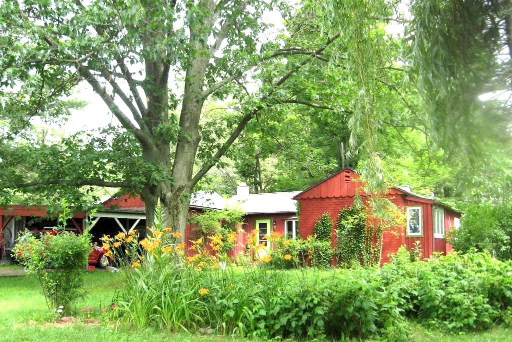 Quiet room overlooks a big backyard - Ithaca - Hus