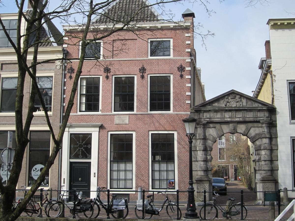 Bed aan de Nieuwegracht in Utrecht