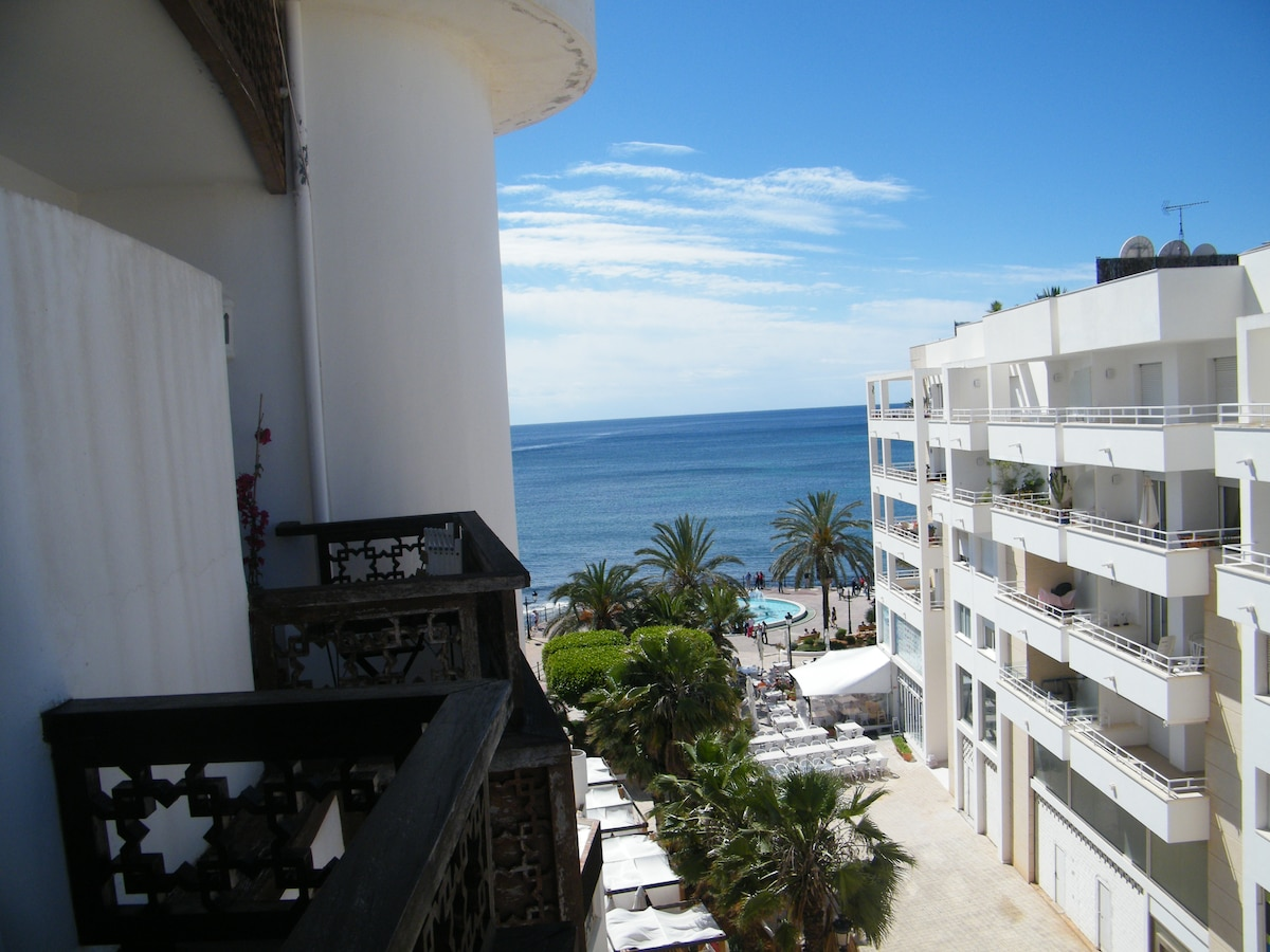 a view to the sea from the balcony