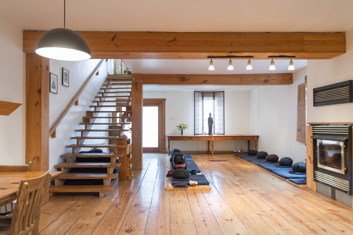 The Zendo or Zen meditation hall