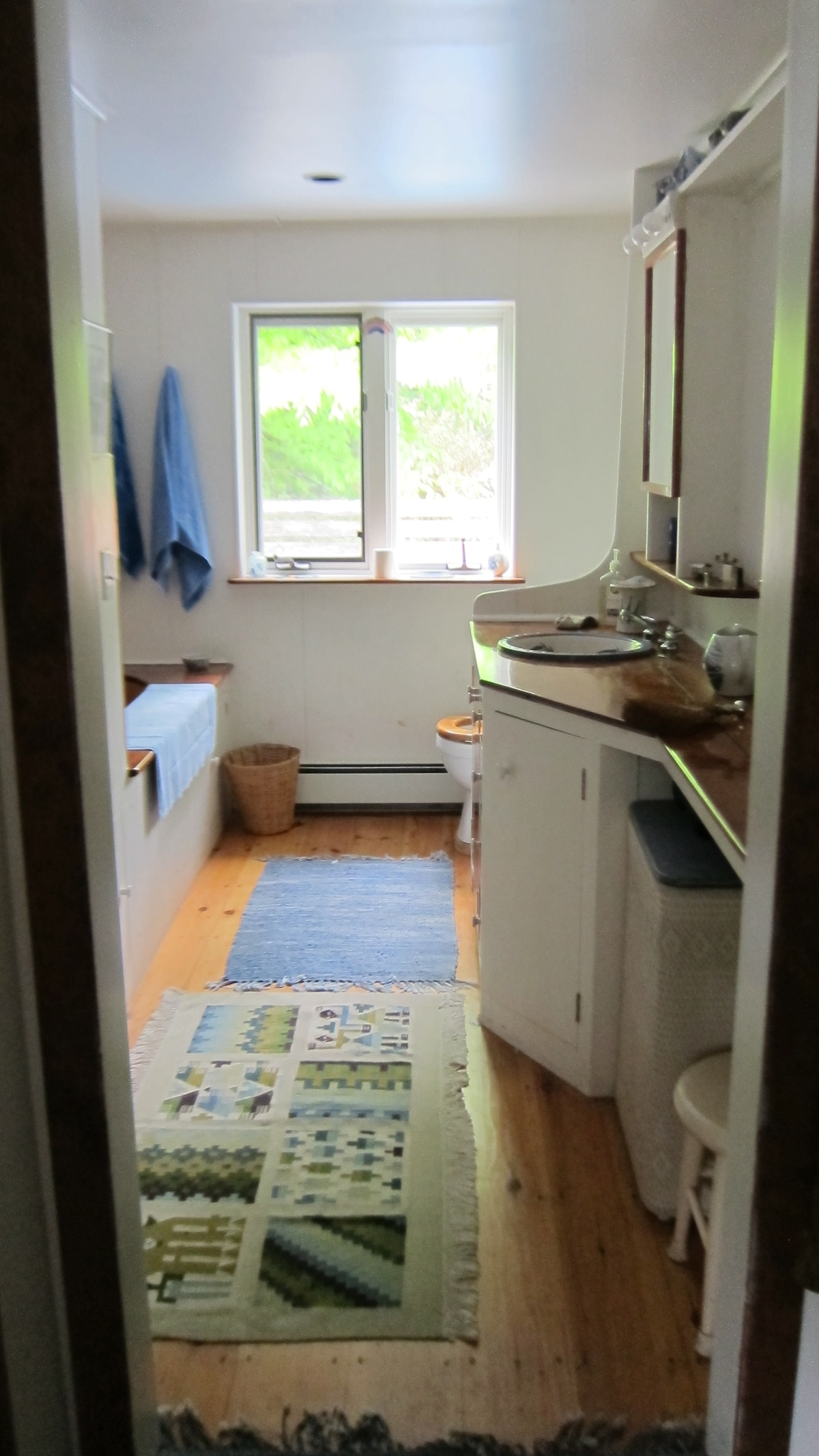 bathroom constructed by a boat builder