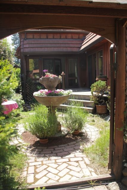 The private entrance to your own beautiful little garden and patio to enjoy the California sun!