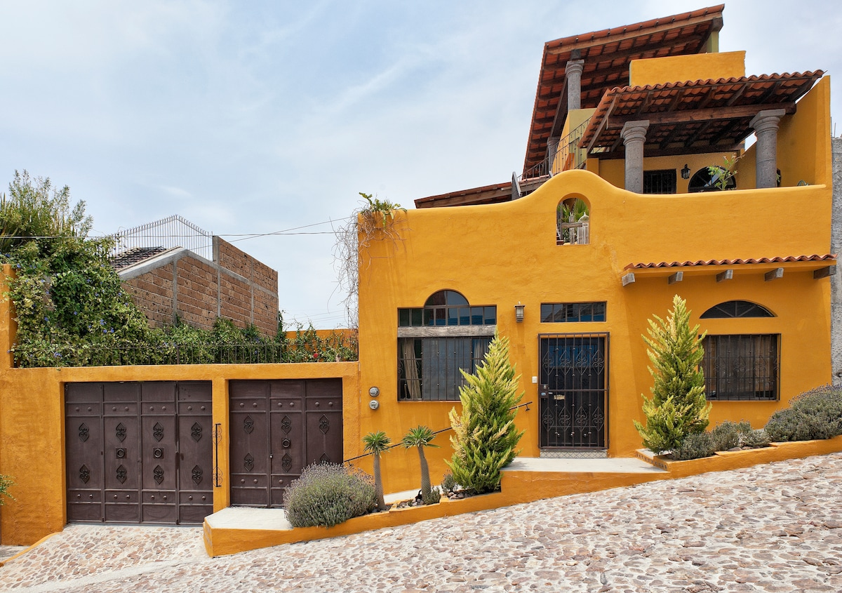 Front Entrance of the Main Casa with Casita Danielita on 2nd Floor