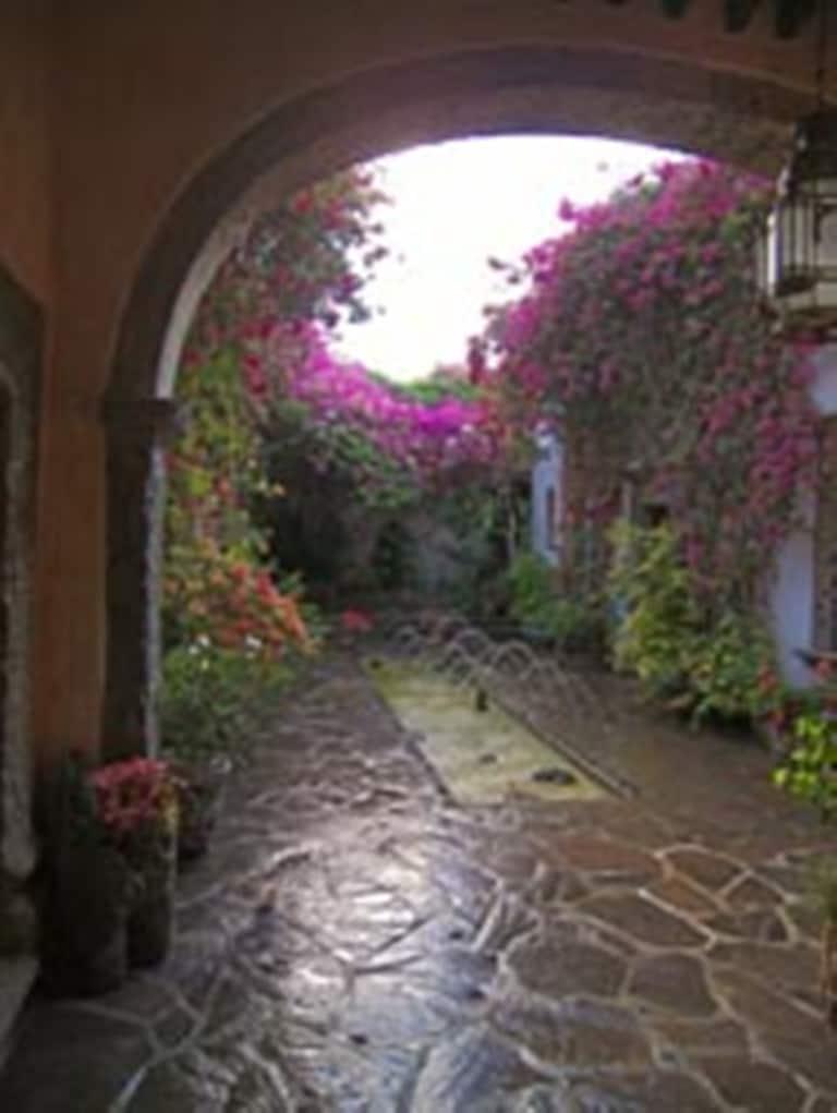 Entrance corridor and central patio