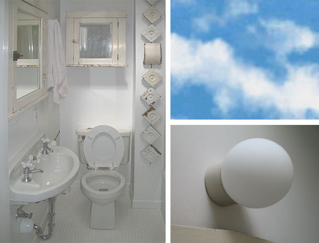 Bathroom with sky and light