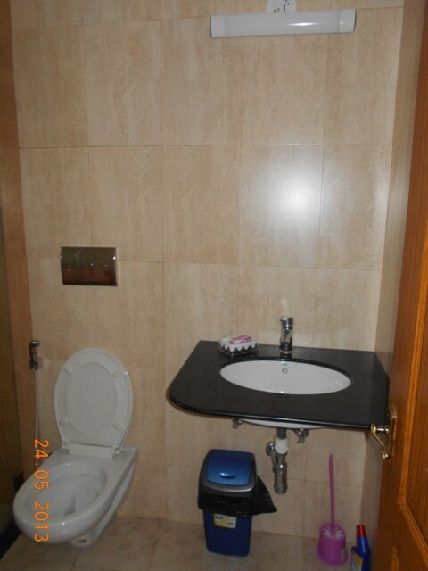 Modern toilet with 24/7 hot water facility (solar heaters)