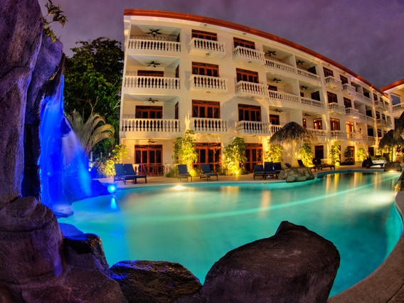 Gorgeous Night view of the main pool