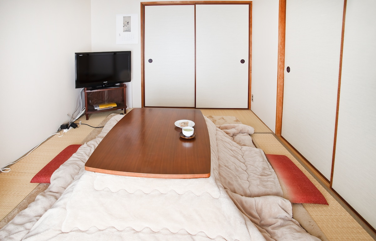 Living room with kotatsu (winter time only)