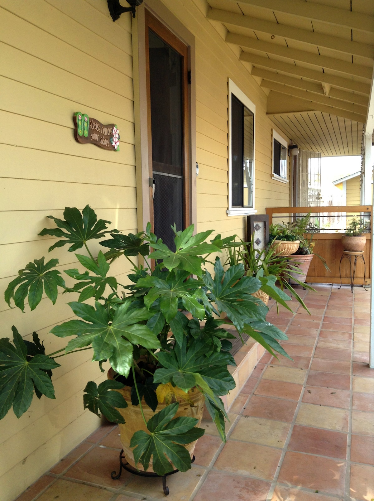 The porch entry way.