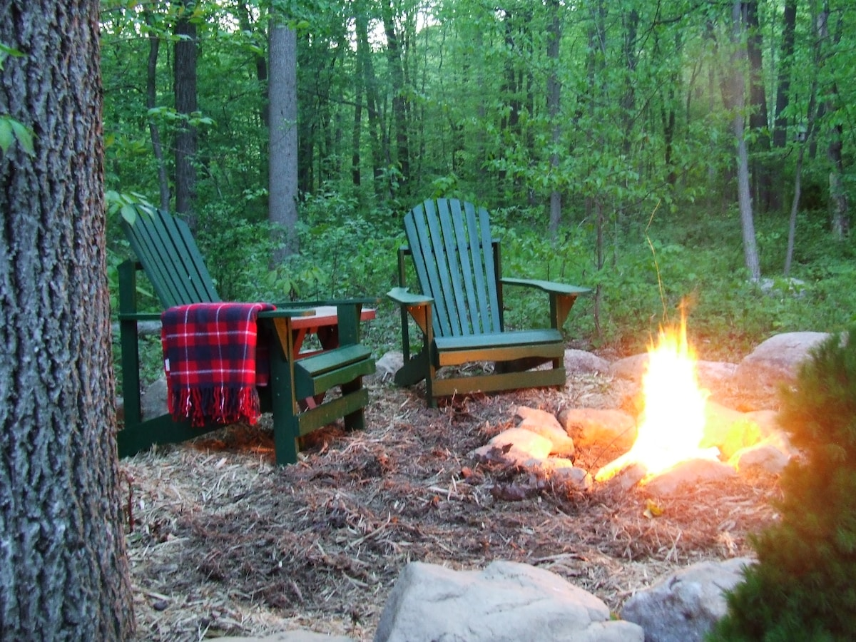 Your own personal fire ring to make smores or just snuggle with a book.