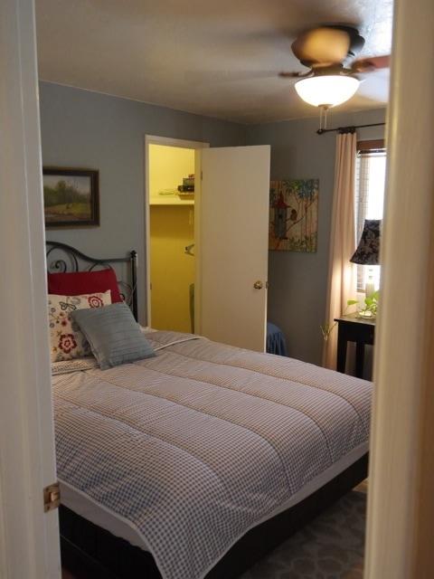 Large walk in closet in bedroom