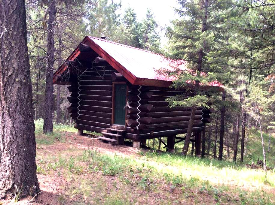 The log cabin at the bear 10 ranch - Eureka - Cabane