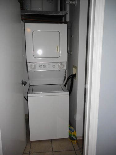 In suite washer and dryer for your exclusive use.