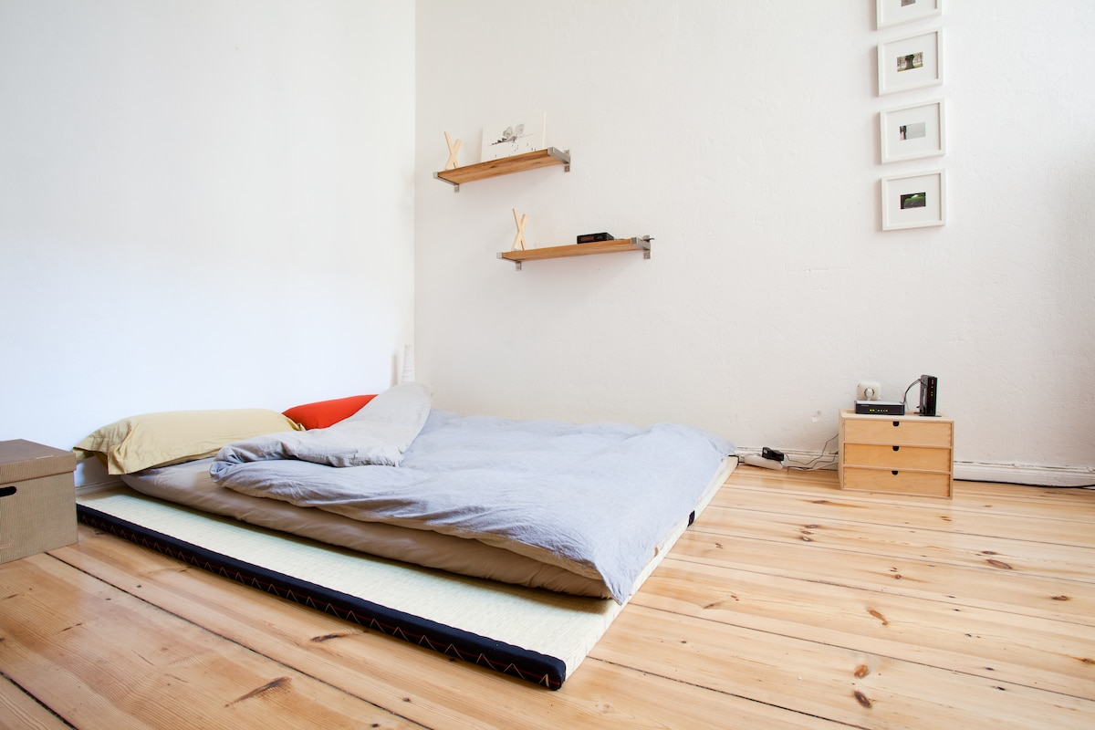 Please notice that this is futon bed has been changed with a normal bed with comfortable mattress