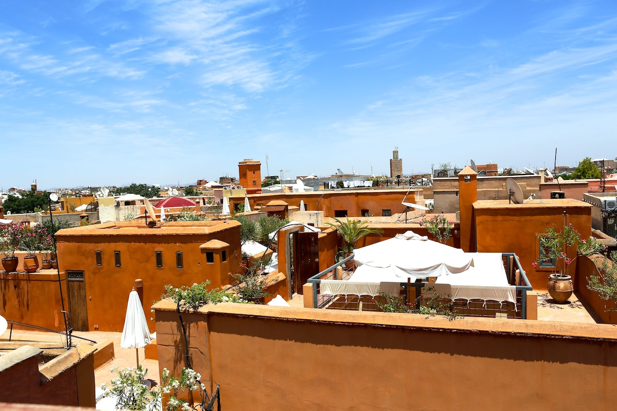 360 degree views of Marrakech and the Atlas Mountains