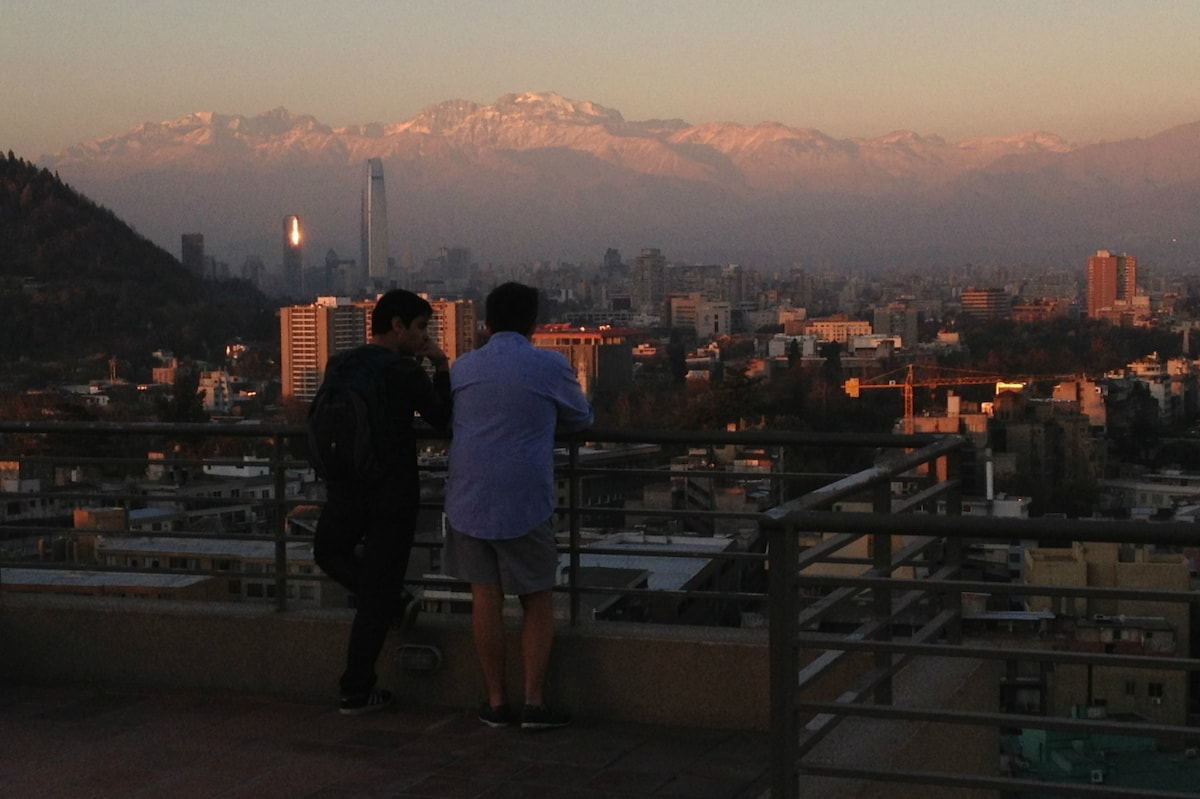 Terrace on floor 22nd with panoramic view of Santiago and the Andes