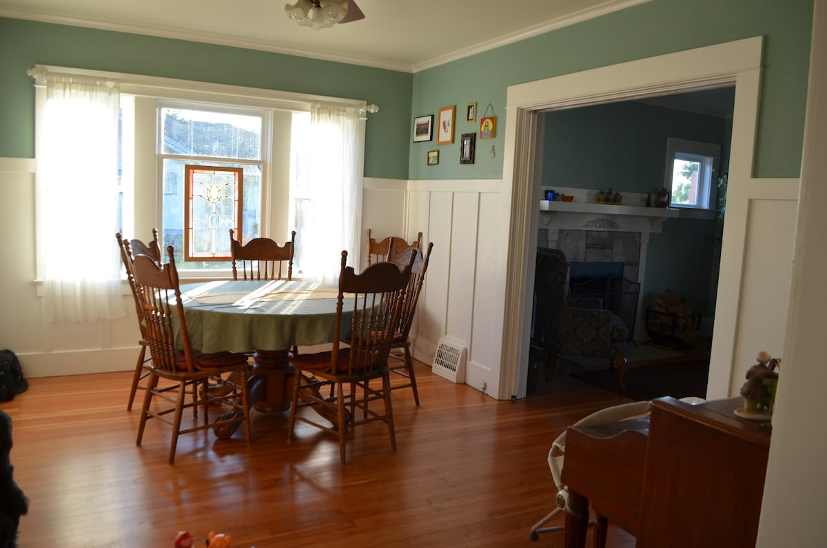 Our sunny dining room is a great place to enjoy meals