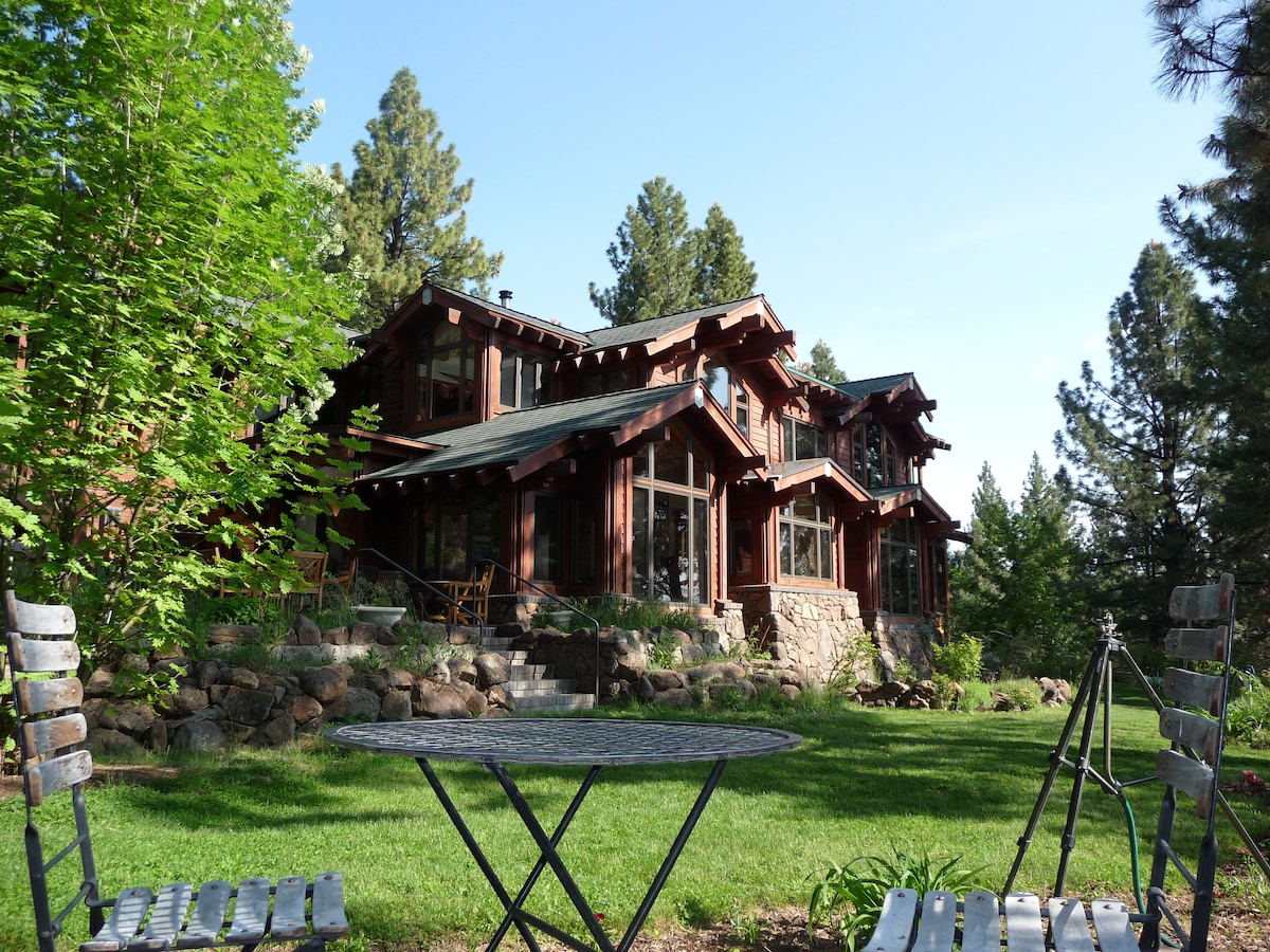 The lodge in summer.